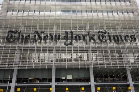 new york time: Nueva York, EE.UU., 24 de mayo de 2011 - The New York Times cerca de las oficinas de la Autoridad Portuaria en Manhattan, Nueva York.