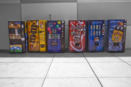 Philadelphia, USA, May 29,  2011 - Colourful vending machines