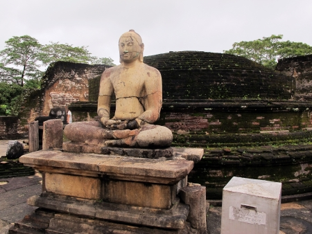 Meditating Buddha statue at Polonnaruwa photo