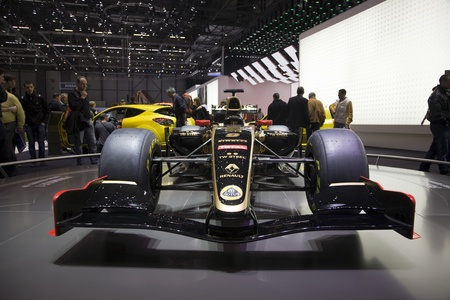 GENEVA, SWITZERLAND - MARCH 4, 2011 - 2011 Lotus Renault GP Formula 1 Car at the annual motor show in Geneva on March 4, 2011.