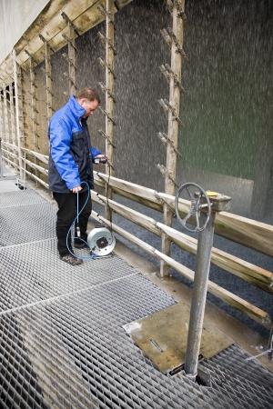 Engineer running tests photo