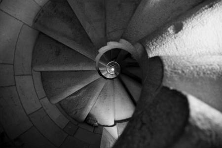 Spiralling steps photo