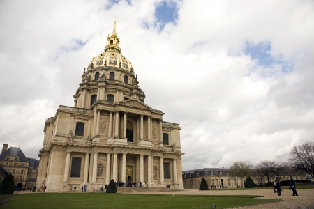 PARIS, FRANCE - APRIL 2, 2010: The Chapel des Invalides on April 4, 2010 in Paris, France.  This french landmark is famous as the burial place for Napoleon Bonaparte.