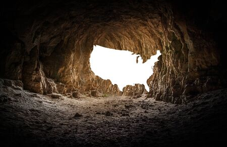 United State Map with Creative cave background 3D Illustration Banque d'images