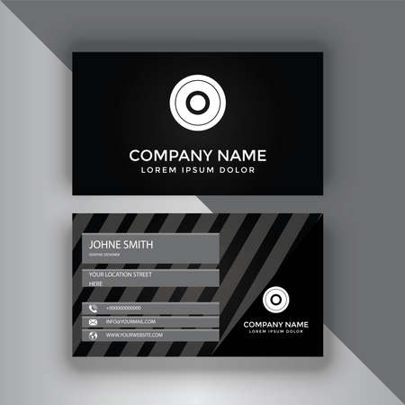 Corporate Business Card Design With Double-Sides Vetores