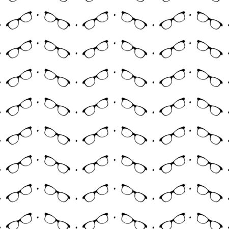 Seamless black and white pattern with eyeglasses isolated Stock Vector - 18705321
