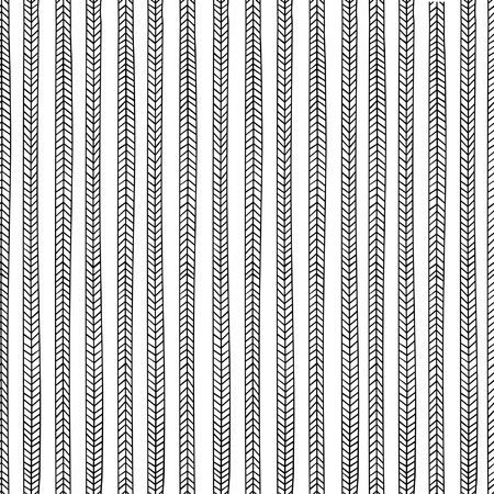 endless seamless pattern with repeating stylized black pigtails on white background isolated Stock Vector - 18705322