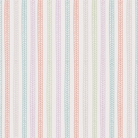 Vector endless seamless pattern with repeating stylized colorful pigtails on light gray background Stock Vector - 18705323
