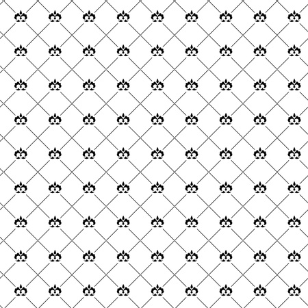 Seamless pattern with black damask Stock Vector - 19185253