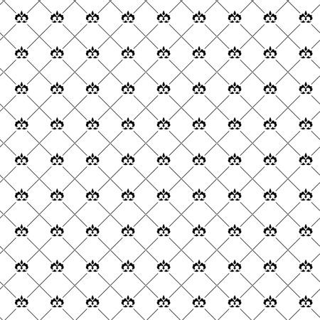 Seamless pattern with black damask