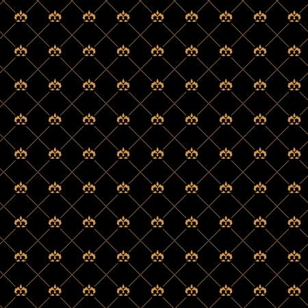 Golden damask seamless pattern on the black background Stock Vector - 19185249