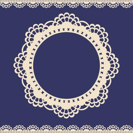 Lace elegance vintage label Illustration