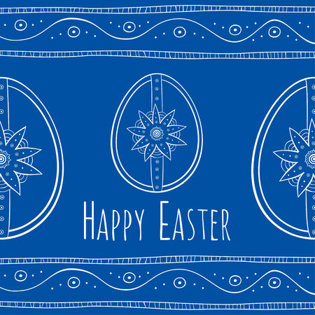Easter ethnic style greeting card Illustration