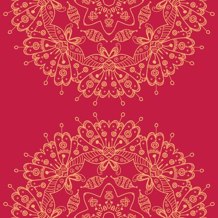Mandala style lace doily. Round pattern, oriental style. Can be used as a background, pattern, backdrop, wallpaper or for packaging, bag template, etc.