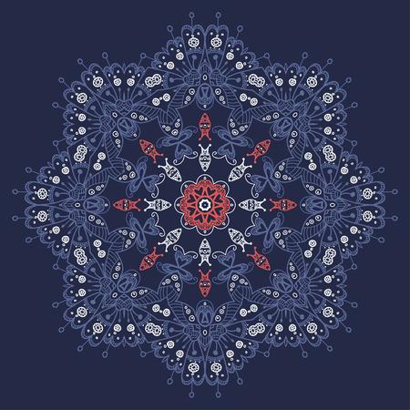 Mandala style lace doily