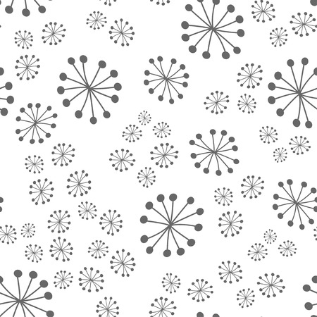 Abstract vector seamless pattern with dots on white background