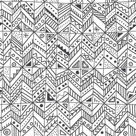 seamless pattern with ethnic tribal  trendy ornaments. Can be printed and used as wrapping paper, wallpaper, textile, fabric, etc. Illustration