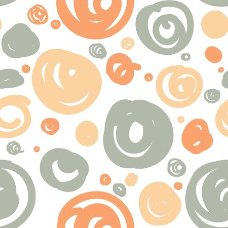 Vector seamless pattern with doodled circles.