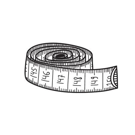 Ilustración de vector de cinta métrica.