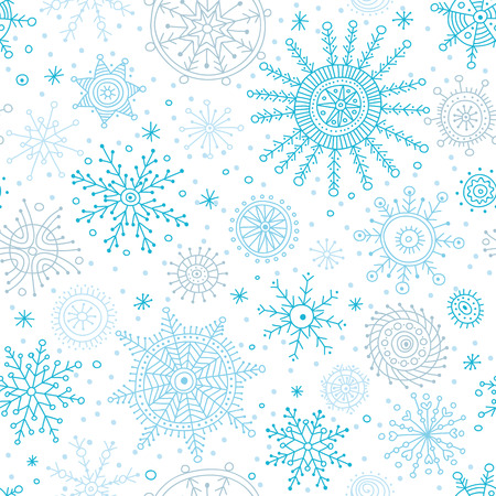 Vector christmas seamless pattern in ethnic boho style with ornaments