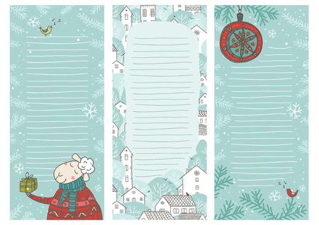 Christmas time note sheets. Can be used as to do list, banner, card, grocery list, sticker, printed