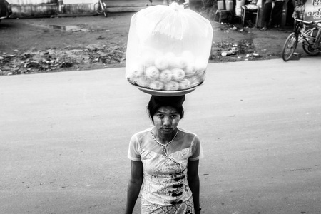 Food seller in Myanmar
