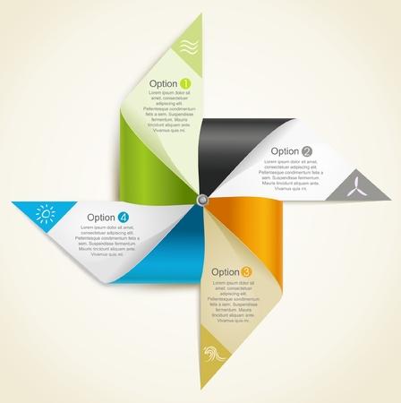 molino viento: origami molino de papel que representa los recursos de energías renovables Vectores