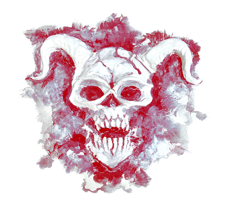 Evil demon on grunge texture background
