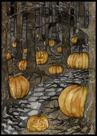 Halloween background, gothic, esoteric and mystic concept.