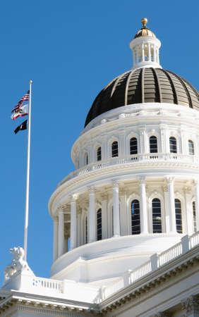 california flag: california capitol building in sacramento, Done and California State Flag Editorial