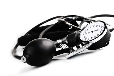sphygmomanometer and stethoscope  - blood pressure meter medical tool Stock Photo - 10670449
