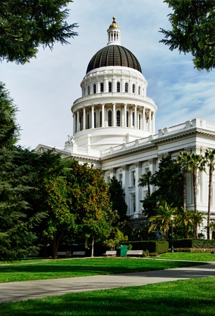 a hdr picture of Capital Building in Sacramento California photo
