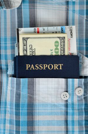 passport, money and boarding pass Stock Photo - 16461616