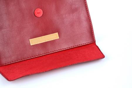 Enveloppe de la texture en cuir rouge Banque d'images - 23286502
