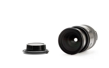 Linse und Objektiv Cup auf weißem Hintergrund, verändert, keine Marken isoliert Standard-Bild - 55407768