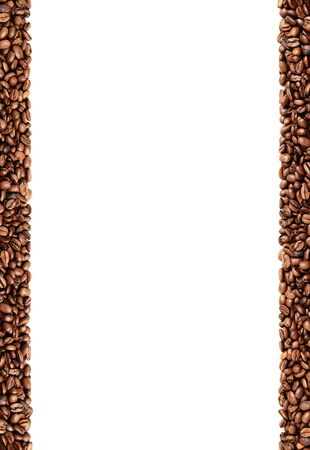 Frame made out of coffee beansvertical orientation, high resolution Stock fotó