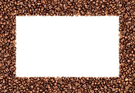 Frame made out of coffee beans, high resolution