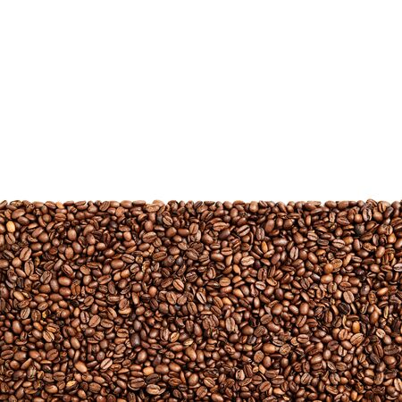 Roasted Coffee beans in bottom part of image and negative space on top, high resolution 7516 x 7416 pixels, 56 megapixels Stock fotó