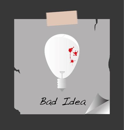 The bulb bad blood for bad idea  Vector