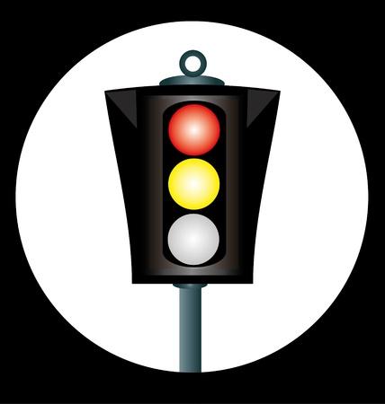 The traffic light. Vector