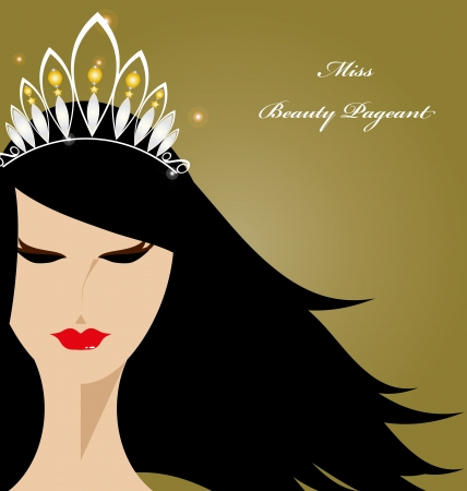 The gorgeous lady for beauty pageant  Vector
