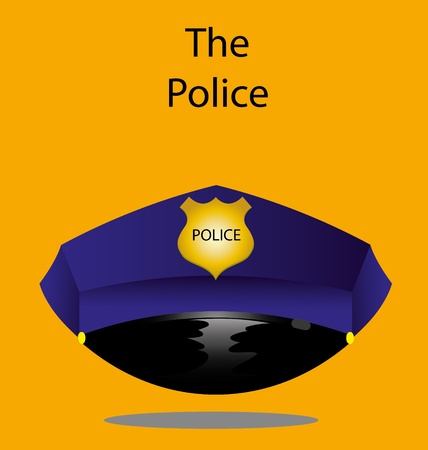 The police s hat in vector  Vector