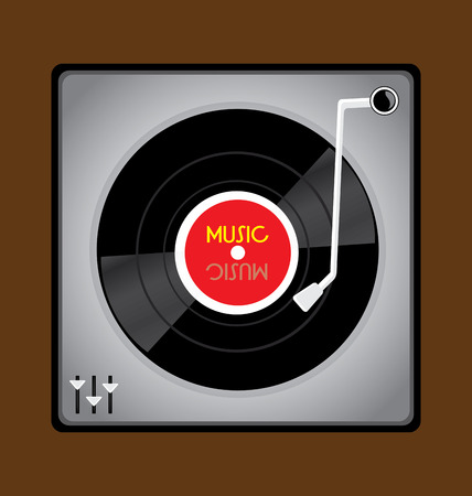 The music vinyl record player