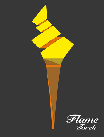 flaming: Flaming torch for success. Illustration
