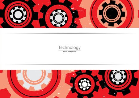 technology background: Technology abstract gears for background.