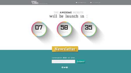 launching: Website Launching Page