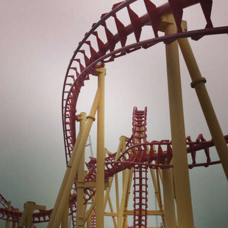 Roller Coaster on a cloudy day Фото со стока - 21598675