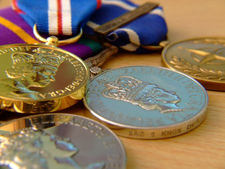 war decoration: Medals Of Honour Stock Photo
