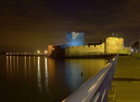 defended: Coastal Castle Stock Photo
