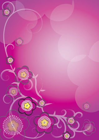 bao: Flowery Background, festive feel.